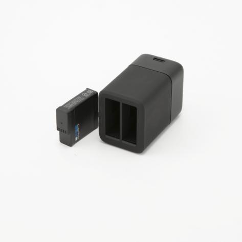 Caricabatterie USB doppio con batteria